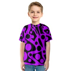 Purple and black abstract decor Kid s Sport Mesh Tee