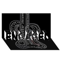 Decorative guitar ENGAGED 3D Greeting Card (8x4)