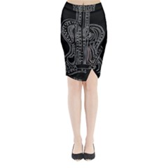 Decorative guitar Midi Wrap Pencil Skirt
