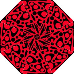 Red and black abstract decor Straight Umbrellas