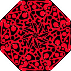 Red and black abstract decor Hook Handle Umbrellas (Small)