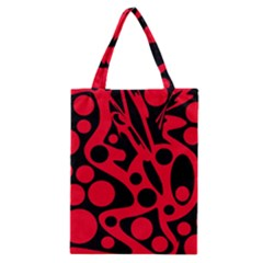 Red and black abstract decor Classic Tote Bag