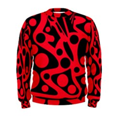 Red and black abstract decor Men s Sweatshirt