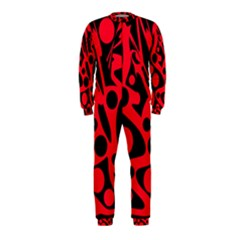 Red and black abstract decor OnePiece Jumpsuit (Kids)