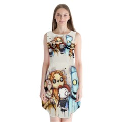 Oz Sleeveless Chiffon Dress