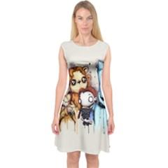 Oz Capsleeve Midi Dress