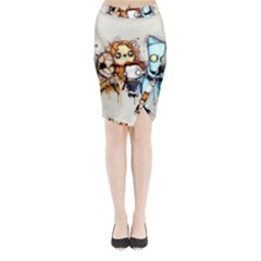 Oz Midi Wrap Pencil Skirt