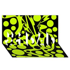 Green And Black Abstract Art #1 Dad 3d Greeting Card (8x4)