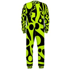 Green and black abstract art OnePiece Jumpsuit (Men)