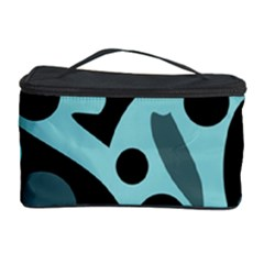 Cyan blue abstract art Cosmetic Storage Case