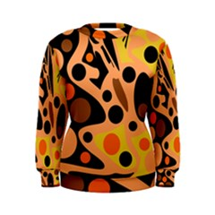 Orange abstract decor Women s Sweatshirt