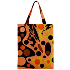 Orange abstract decor Zipper Classic Tote Bag