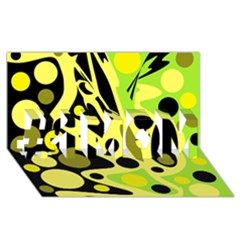 Green abstract art #1 MOM 3D Greeting Cards (8x4)