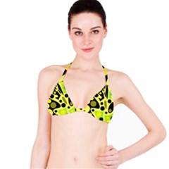 Green abstract art Bikini Top