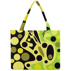Green abstract art Mini Tote Bag