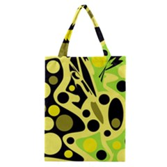 Green abstract art Classic Tote Bag