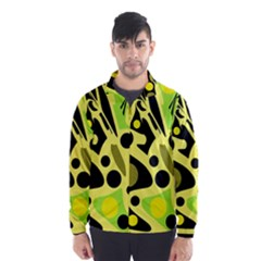 Green abstract art Wind Breaker (Men)