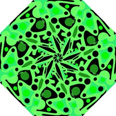 Green Abstract Decor Hook Handle Umbrellas (large)