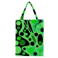 Green abstract decor Classic Tote Bag