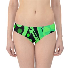 Green abstract decor Hipster Bikini Bottoms