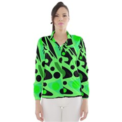 Green abstract decor Wind Breaker (Women)