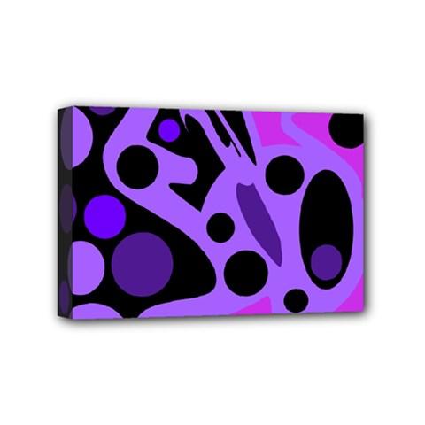 Purple abstract decor Mini Canvas 6  x 4