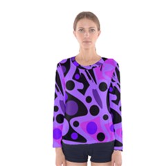 Purple abstract decor Women s Long Sleeve Tee