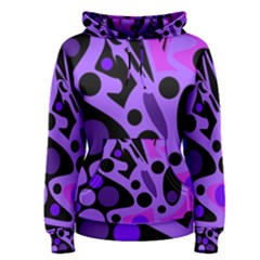 Purple abstract decor Women s Pullover Hoodie