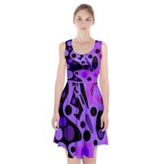 Purple abstract decor Racerback Midi Dress