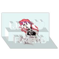Humans Suck Best Friends 3D Greeting Card (8x4)
