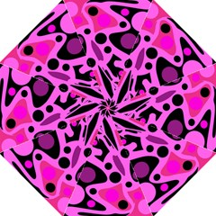 Pink abstract decor Golf Umbrellas