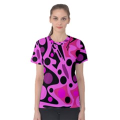 Pink abstract decor Women s Cotton Tee