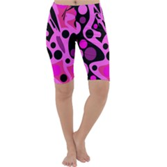 Pink abstract decor Cropped Leggings