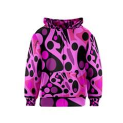 Pink abstract decor Kids  Zipper Hoodie