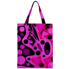 Pink abstract decor Zipper Classic Tote Bag