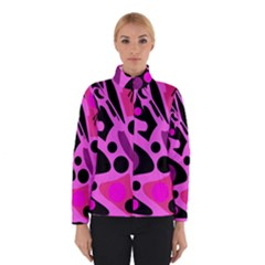 Pink Abstract Decor Winterwear