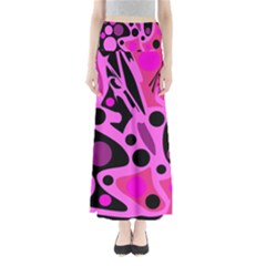 Pink abstract decor Maxi Skirts