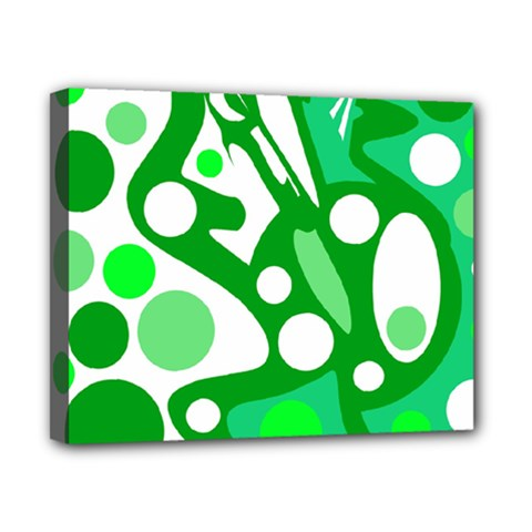 White and green decor Canvas 10  x 8