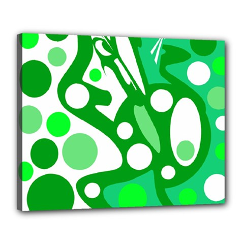 White and green decor Canvas 20  x 16