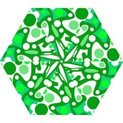 White and green decor Mini Folding Umbrellas