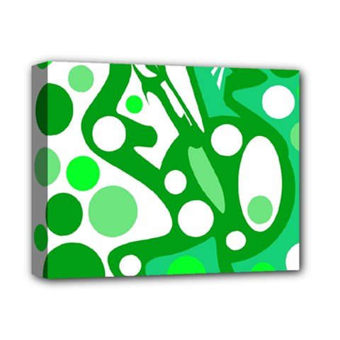 White and green decor Deluxe Canvas 14  x 11