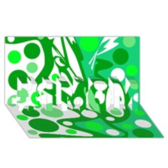 White and green decor #1 MOM 3D Greeting Cards (8x4)