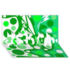 White and green decor #1 DAD 3D Greeting Card (8x4)