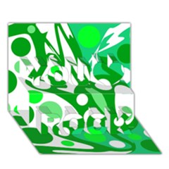 White and green decor You Rock 3D Greeting Card (7x5)