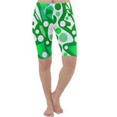 White and green decor Cropped Leggings
