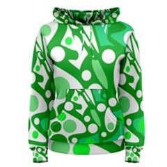 White And Green Decor Women s Pullover Hoodie
