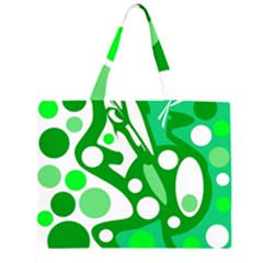 White and green decor Large Tote Bag