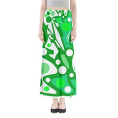 White and green decor Maxi Skirts