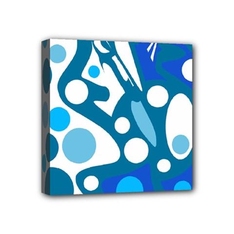 Blue and white decor Mini Canvas 4  x 4