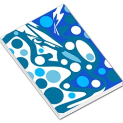 Blue and white decor Large Memo Pads